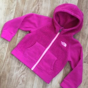 Pink toddler The North Face zipper jacket size 3T